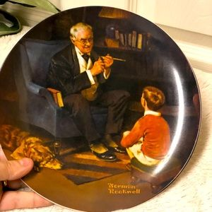 Norman Rockwell the tycoon collector plate